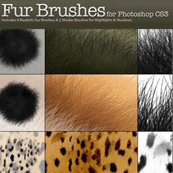 Fur and Animal Hair Brushes for Photoshop psd-dude.com Resources