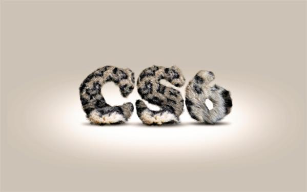 Fur Text with Photoshop CS6
