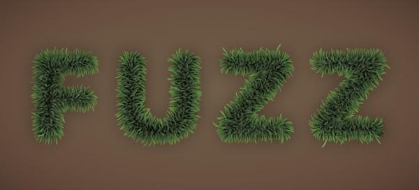 Furry text effect in Photoshop that works great as grass