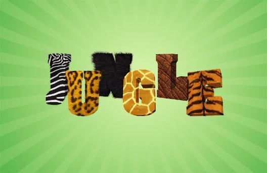 Jungle 3d Fur text in Photoshop