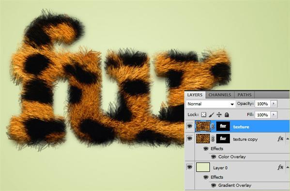 Realistic Fur Text in Photoshop
