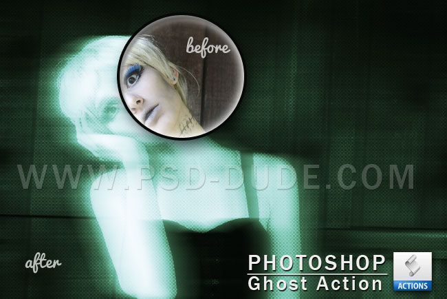 Ghost Effect Photoshop Actions