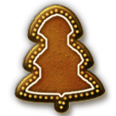 Gingerbread Christmas Tree Icon