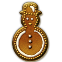 Gingerbread Snowman Icon