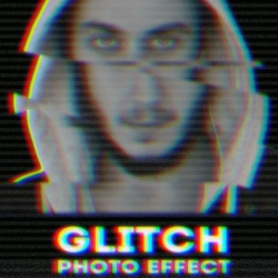 Glitch VHS Corrupted Image Photoshop Action psd-dude.com Resources