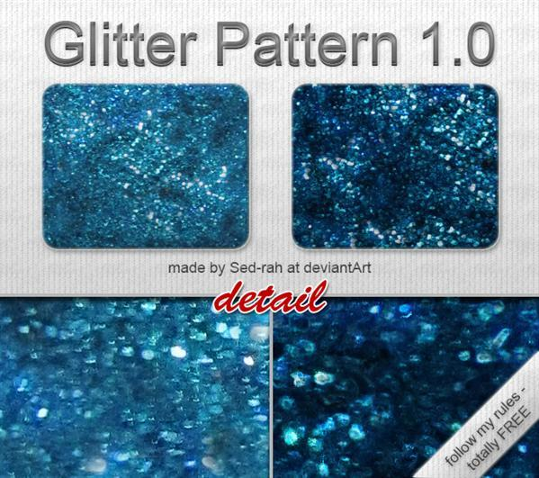 Blue Glitter Patterns for Photoshop