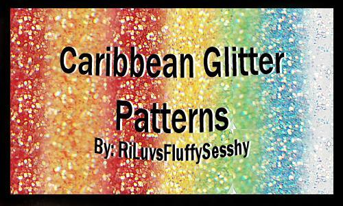 Caribbean Glitter Photoshop Patterns