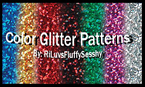 Color Glitter Patterns by RiLuvsFluffySesshy photoshop resource collected by psd-dude.com from deviantart