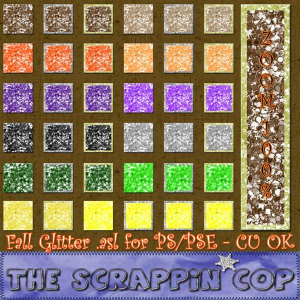 Fall Glitter Photoshop Styles