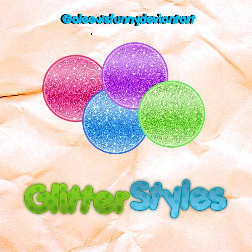 Glitter Style by aleewsfunny photoshop resource collected by psd-dude.com from deviantart