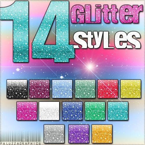 Glitter Styles by LexiVonEerie photoshop resource collected by psd-dude.com from deviantart
