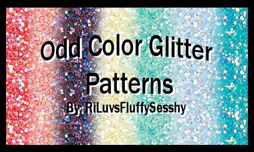 Odd Color Glitter Patterns by RiLuvsFluffySesshy photoshop resource collected by psd-dude.com from deviantart