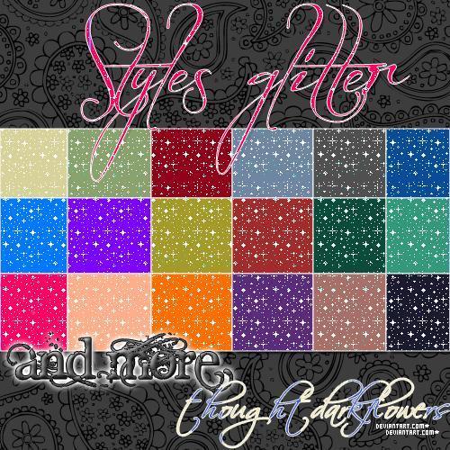 Glitter Photoshop Patterns and Styles | PSDDude