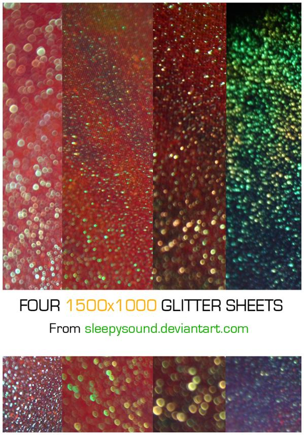 Four 1500x1000 Glitter Sheets by sleepysound photoshop resource collected by psd-dude.com from deviantart