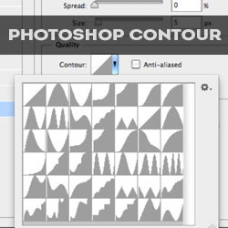Photoshop Contour Layer Style Settings Tutorials for Beginners psd-dude.com Resources