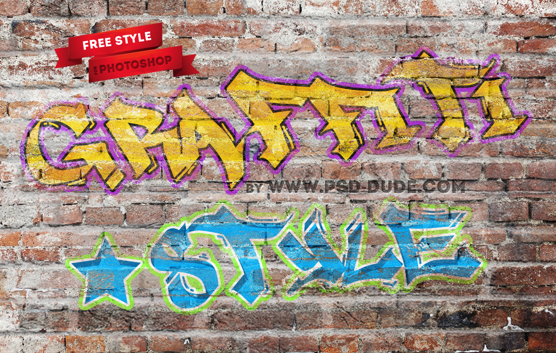 Graffiti Photoshop Text Style Freebie