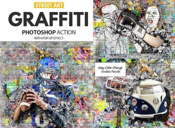 Graffiti Effect Photoshop Action