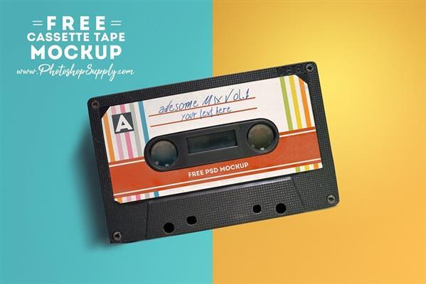 Audio Cassette Tape Mockup Free Download