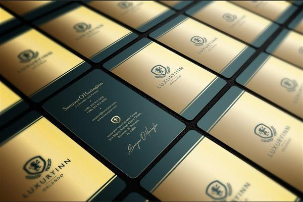 Golden Stationary Business Card Design