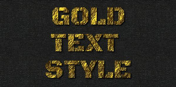 Photoshop Gold Style Collection