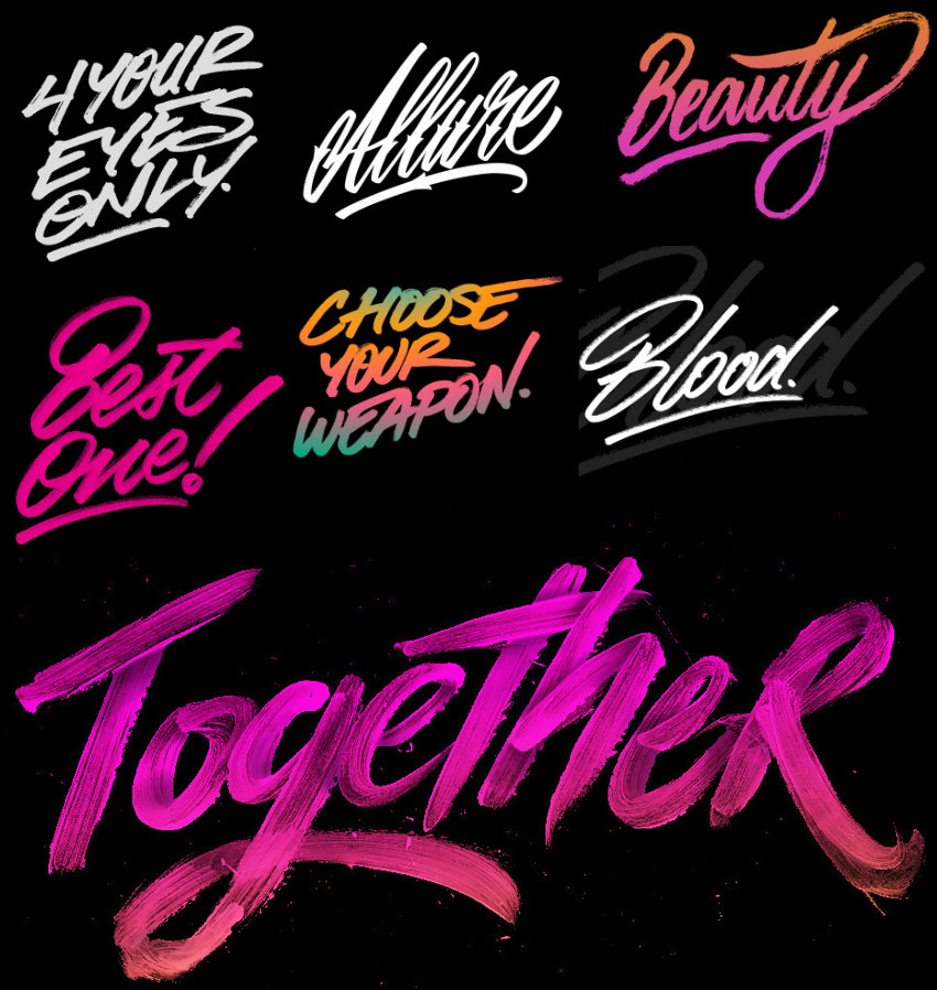 Photoshop Hand Lettering Typography Inking