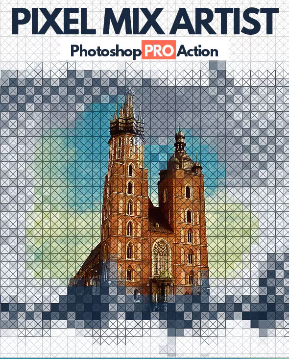 Pixel Mix Photoshop Action