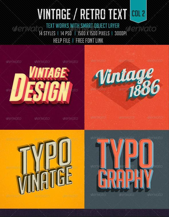 Retro Vintage Typography Photoshop Style Collection