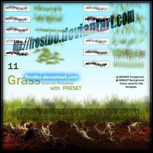 Brush Grass Set for Photoshop