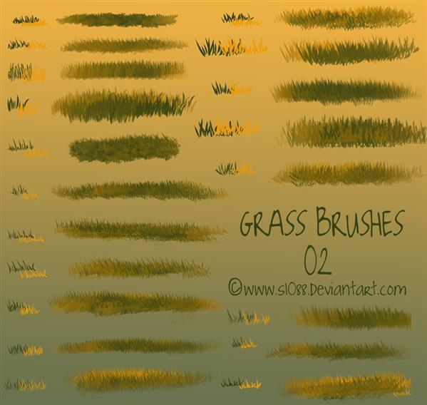 Create Grass Borders with Free Photoshop Brushes