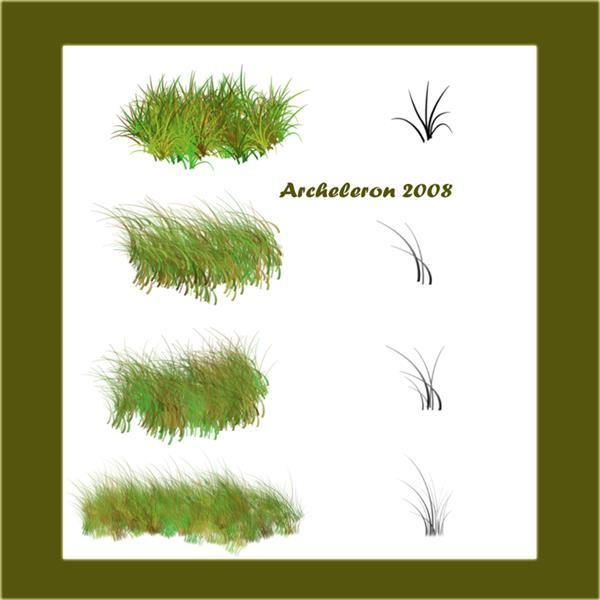 Easy to Use Grass Brushes