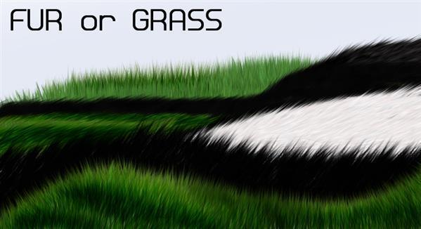 Fur or grass brushes