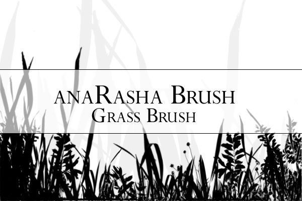 Grass brush silhouette for Photoshop