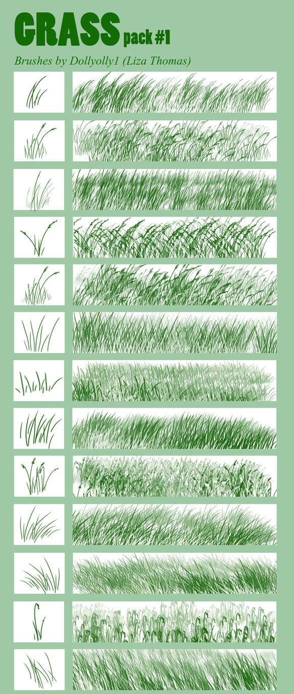 Hand Drawn Grass Brushes for Photoshop