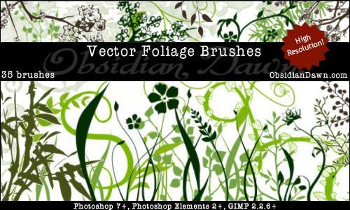 Vector Foliage Plants Brushes