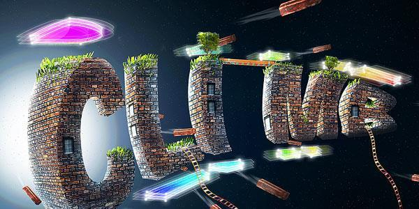 Brick and grass 3d text effect in Photoshop