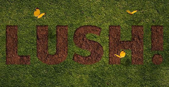 Grass and Dirt Text Effect in Photoshop