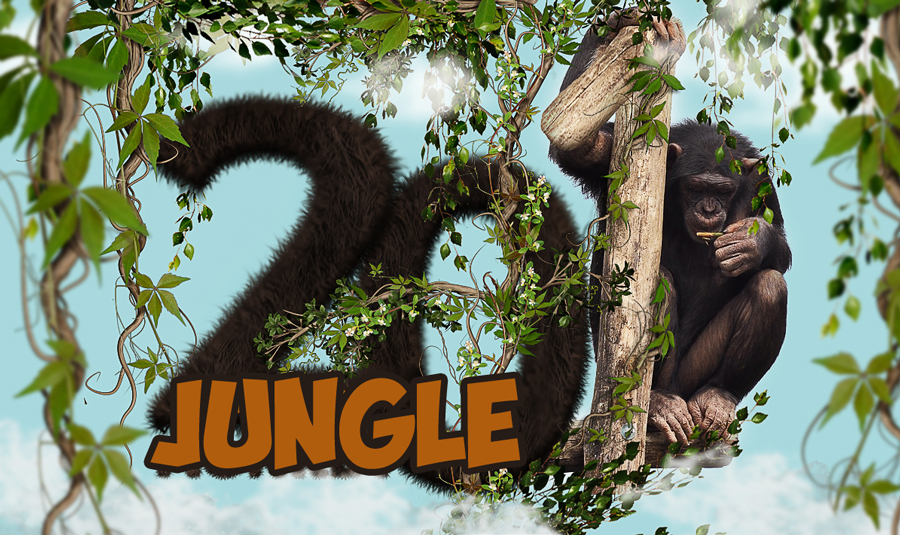 Create a Jungle Text Effect In Photoshop