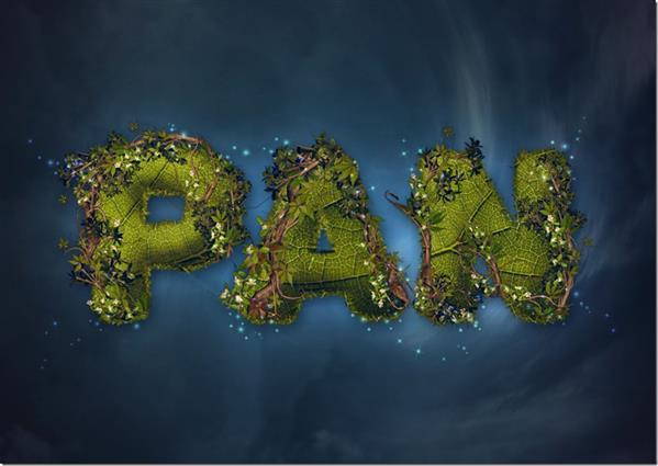 Nature Inspired Peter Pan Text Effect in Photoshop