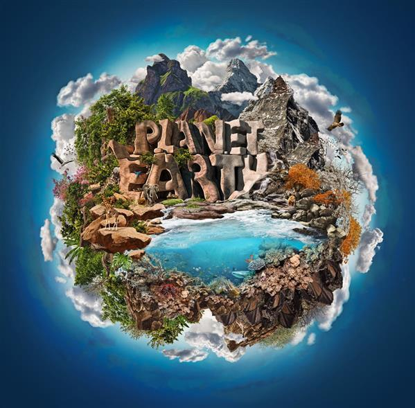 World building creating a composite environment in Photoshop CS6