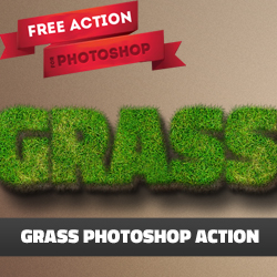 Grass Text Photoshop Free Action psd-dude.com Resources