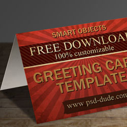 3 Greeting Card Templates With Photoshop Free PSD File