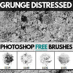 Grunge Distressed Photoshop Brushes Free Download psd-dude.com Resources