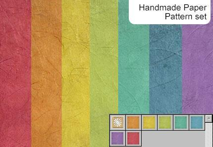 Handmade paper pattern set by melemel photoshop resource collected by psd-dude.com from deviantart