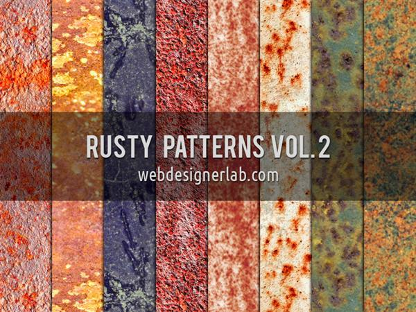 Rusty Patterns Vol 2 by xara24 photoshop resource collected by psd-dude.com from deviantart