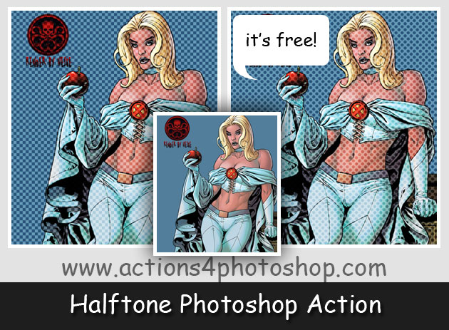 Halftone Photoshop Action