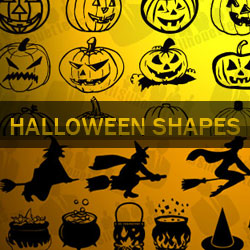 Halloween Vector Shapes for Photoshop CSH psd-dude.com Resources