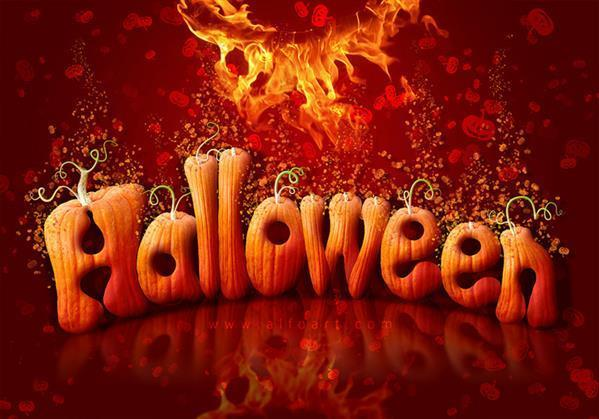 Pumpkin Halloween Text Effect in Photoshop