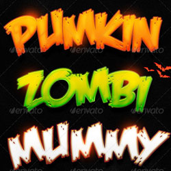 Halloween Photoshop Styles for Text Effects psd-dude.com Resources