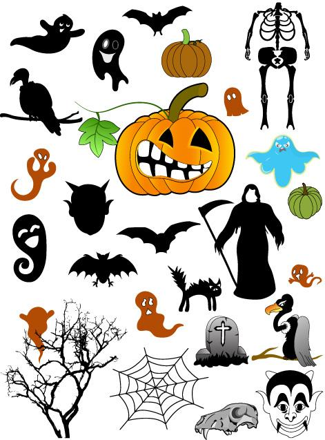 Halloween Vector Shapes for Photoshop