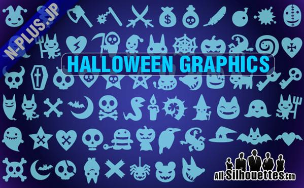 Halloween Vector Shapes CSH For Photoshop